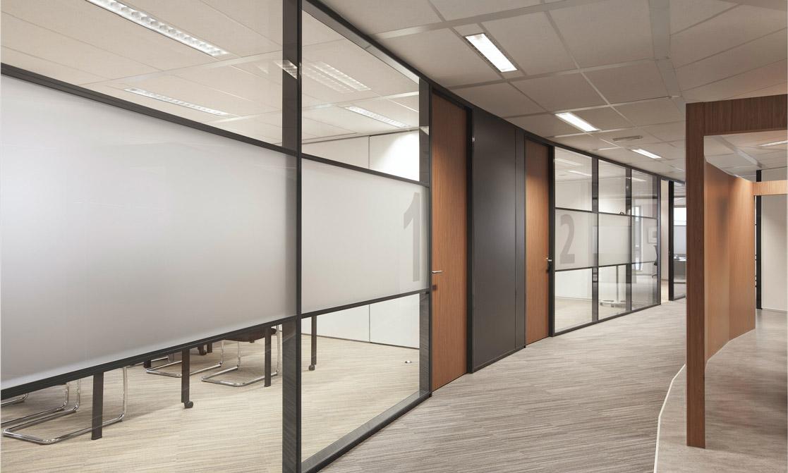 Glazen systeemwand Monobloc