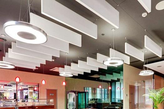 Akoestische plafond baffle 3