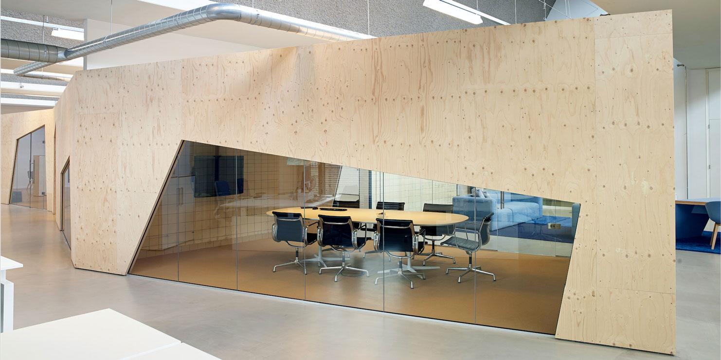 Scheidingswanden verbeek rinzema interieurs - Kantoor transparant glas ...