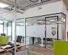 Glazen systeemwand kantoor