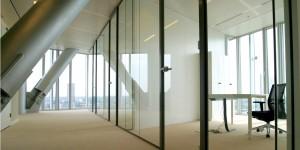 Glazen systeemwanden Deterink