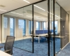 Glazen kantoorwand inclusief glazen deuren