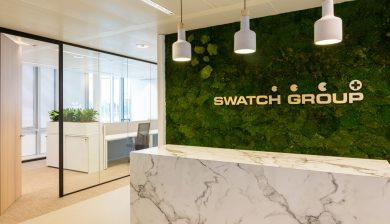 Glaswand Swatch Group door Verbeek en Rinzema